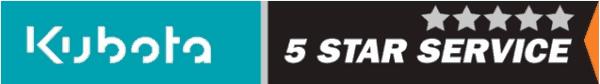 Kubota 5 star service logo