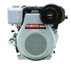 Kubota AC/OC Series engine on white background