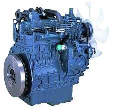 Blue color Kubota D Series Engine on white background