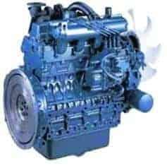Blue Kubota Z Series Engine on white background