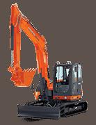 Construction Excavator image on white background