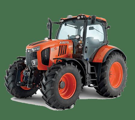 Orange Kubota Commercial Tractor on white background