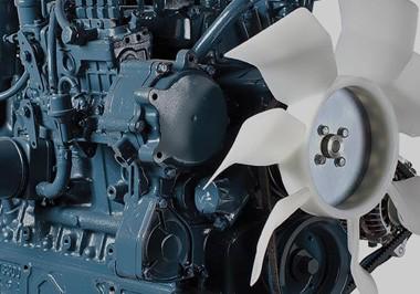 Close up image of Kubota engine part