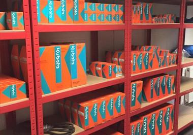 Genuine Kubota Parts kept on the shelf inside the warehouse